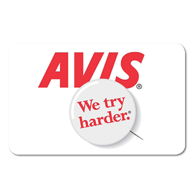 AVIS<sup>&reg;</sup> Rental $100 Gift Card – Save on your next car rental with this Avis<sup>&reg;</sup> $100 gift card.
