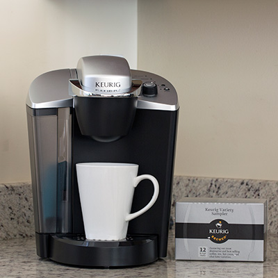 KEURIG<sup>&reg;</sup> K-Cup<sup>&reg;</sup> OfficePRO<sup>&reg;</sup> - Perfect for small workplaces!  Brewing system features a choice of 3 cup sizes, a removable 48-ounce water reservoir, drainable internal water tank and diagnostic lights.
