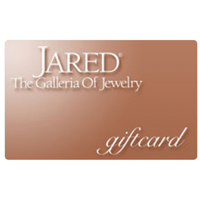 JARED THE GALLERIA OF JEWELERS<sup>&reg;</sup> $25 Gift Card – Use this card to buy fine jewelry and gifts from Jared! The store for diamond jewelry, rings, earrings, necklaces, and more!