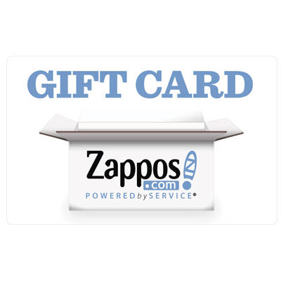 ZAPPOS® $25 Gift Card - Shop online at Zappos.com for clothing, shoes, handbags and more.  Choose from over 1,000 brands, over 125,000 styles, and over 4 million items from their warehouse.